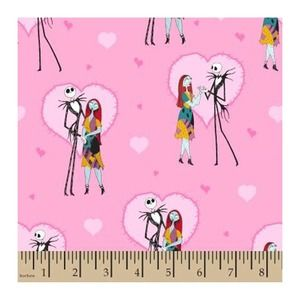 Jack and Sally in Love Cotton Fabric